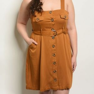 Dresses & Skirts - CAMEL PLUS SIZE DRESS
